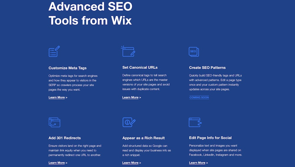 wix advanced seo