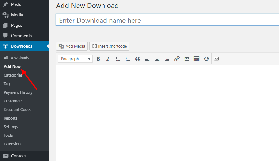 Add New Download