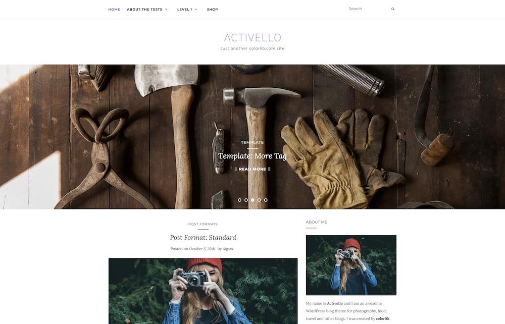 activello free wordpress blog theme