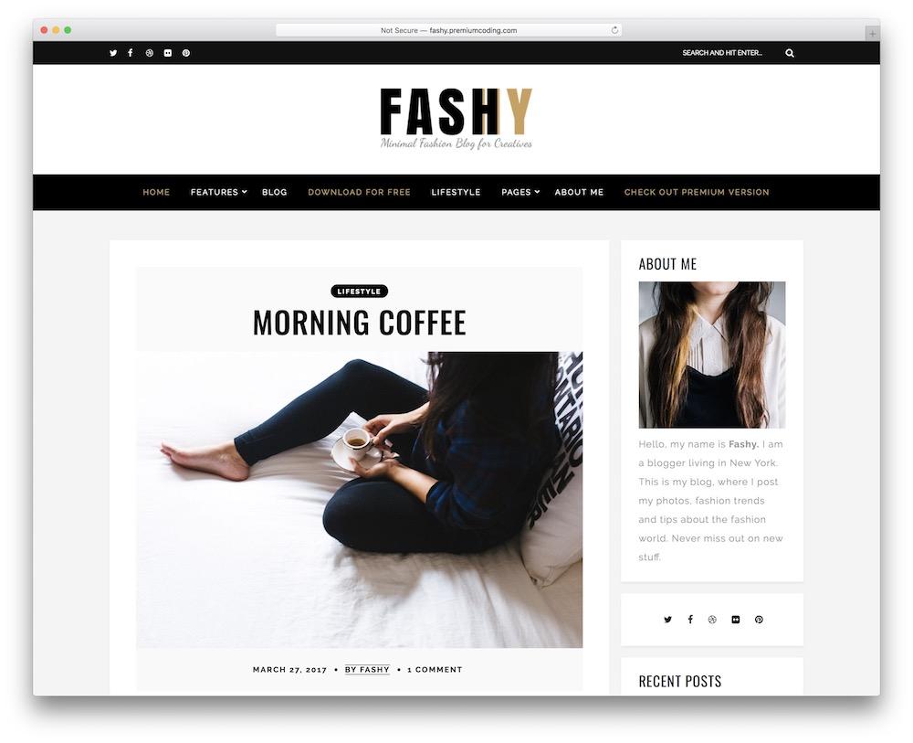 fashy lite free wordpress theme