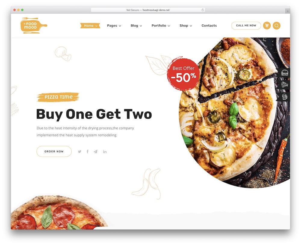 foodmood pizzeria wordpress theme