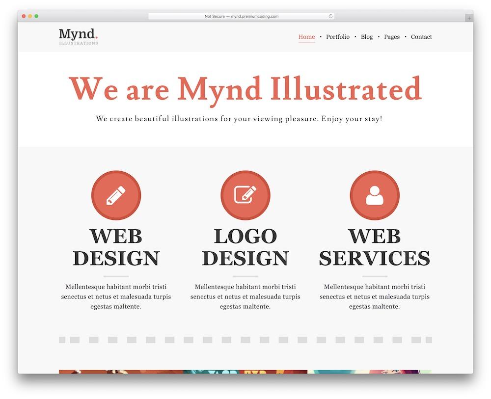 mynd free wordpress theme