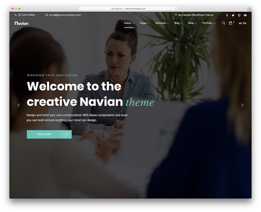 navian seo optimized wordpress theme
