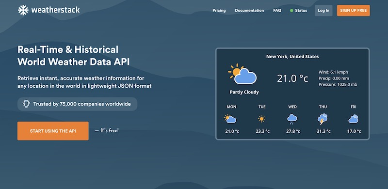 Weatherstack Collects Real-Time Weather Data