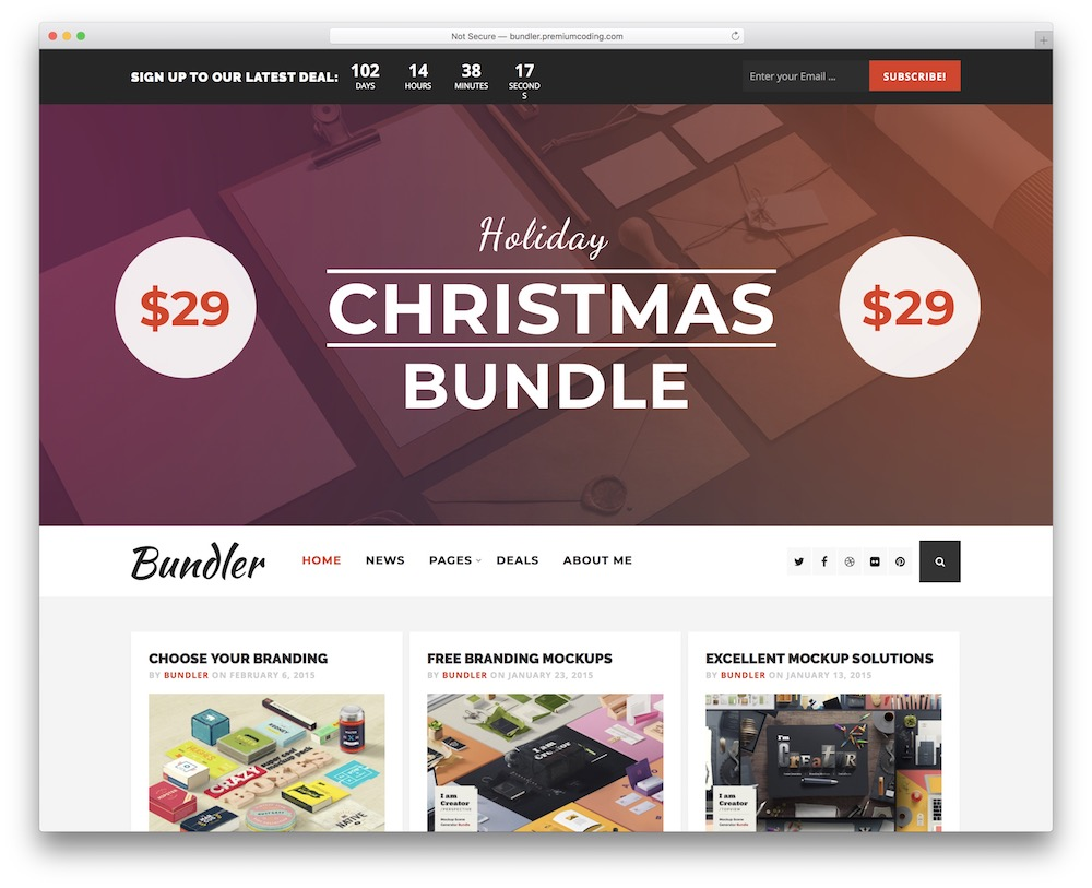 bundler corporate blog theme