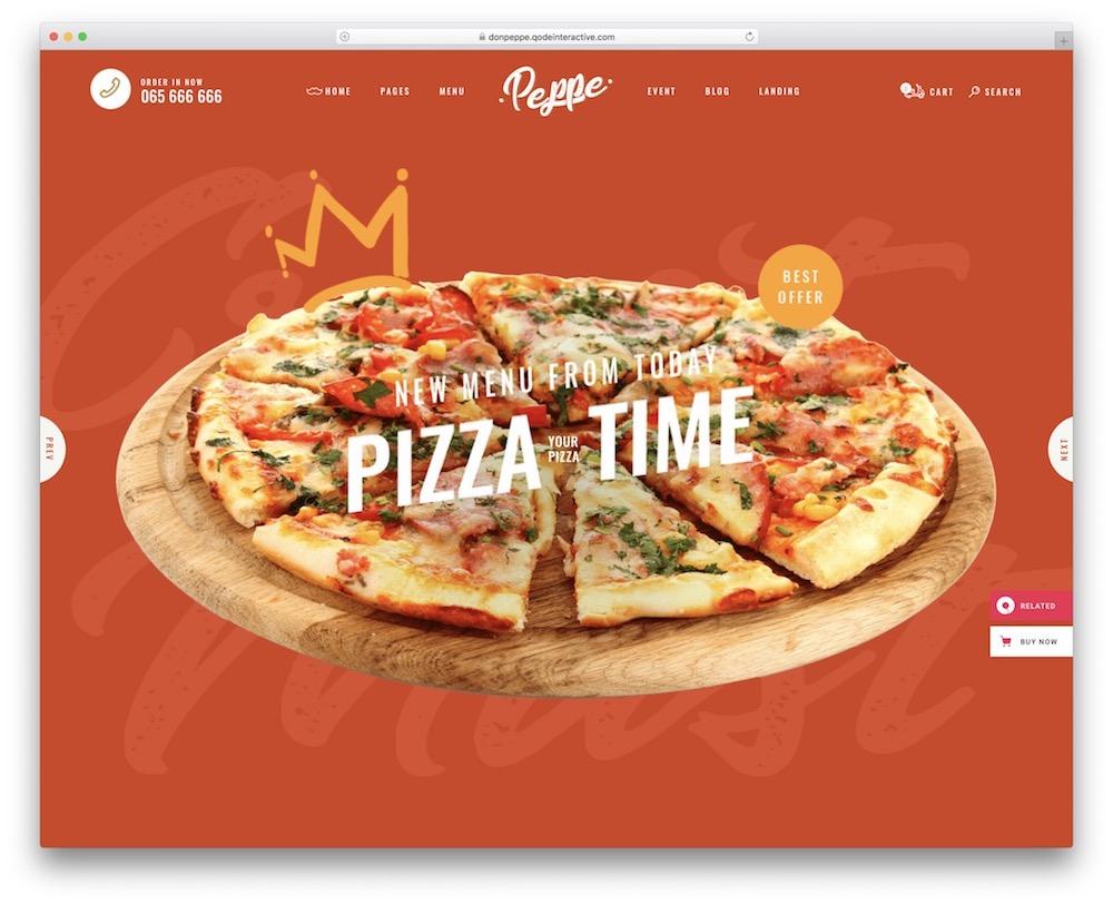 don peppe pizzeria wordpress theme