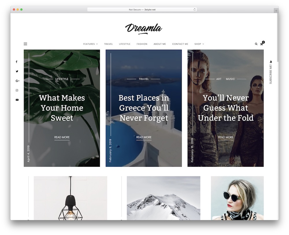 dreamla corporate blog theme