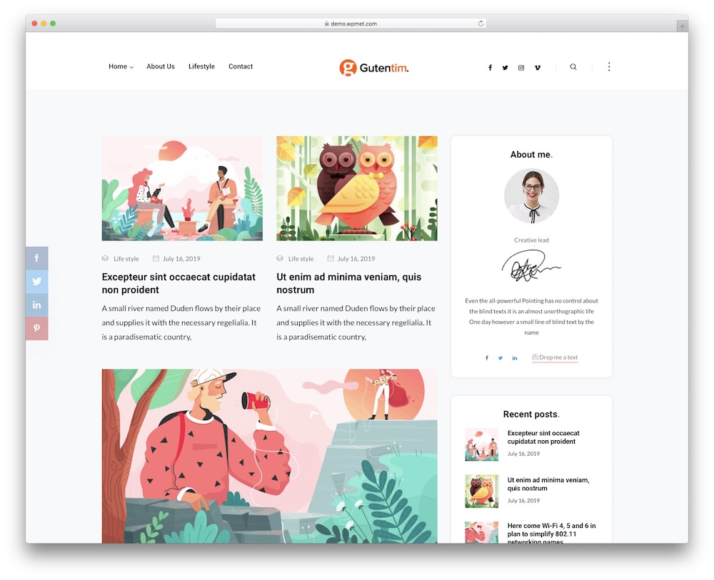 gutentim corporate blog theme