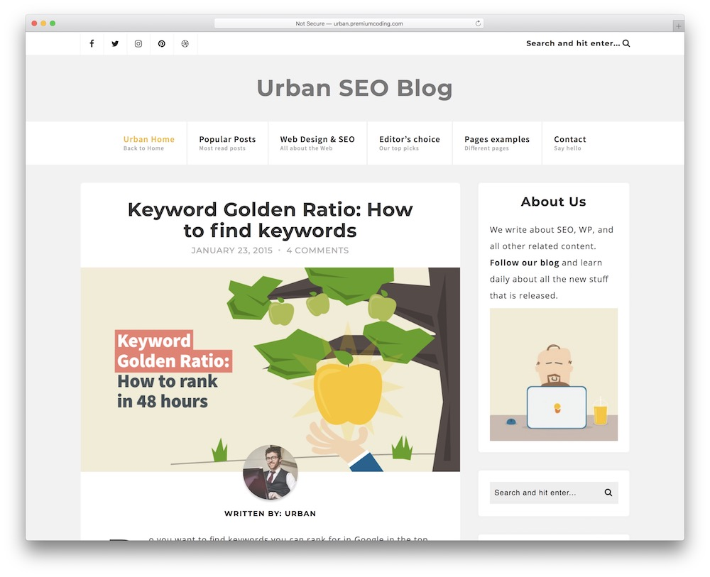 urban corporate blog theme