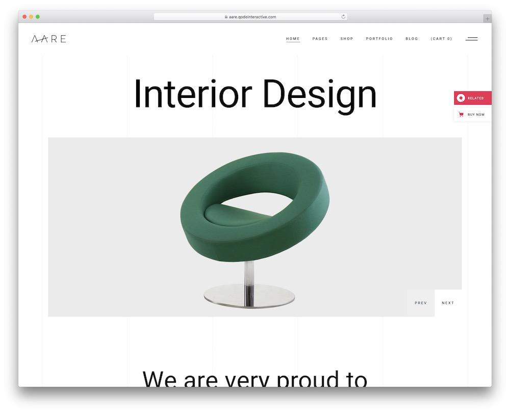 aare furniture wordpress theme