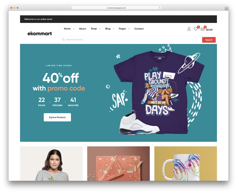 ekommart ecommerce wordpress theme