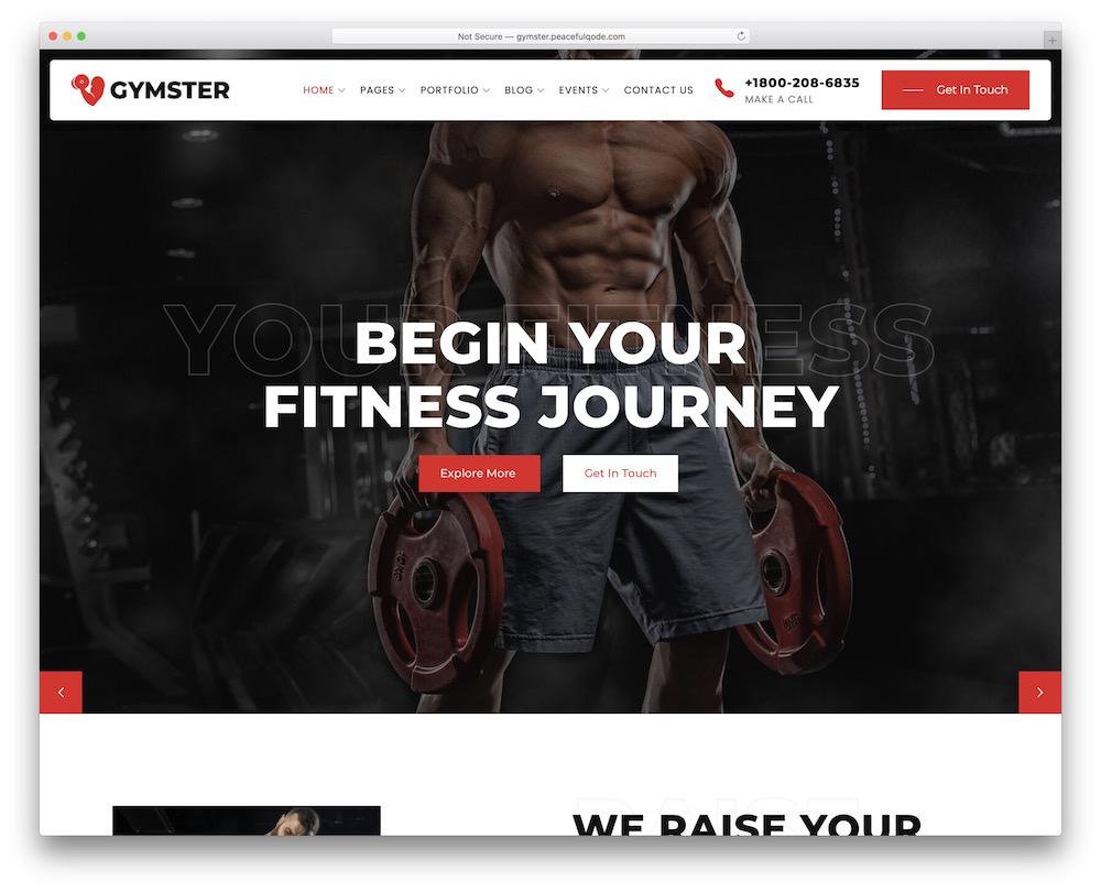 gymster wordpress sports theme