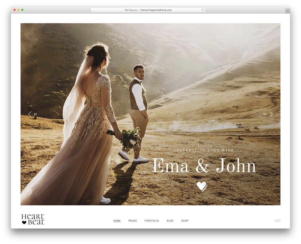 heartbeat wedding wordpress theme