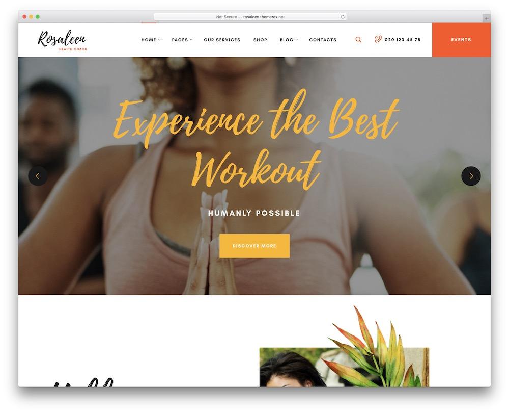 rosaleen wordpress healthy lifestyle theme