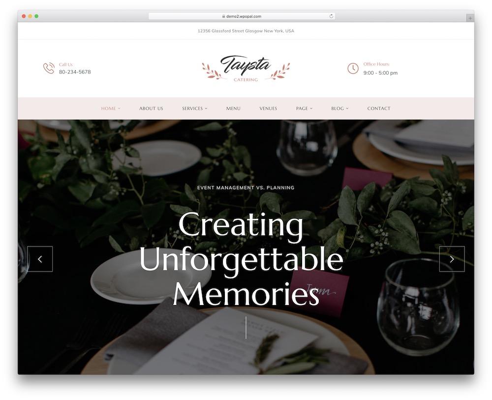 taysta wedding wordpress theme