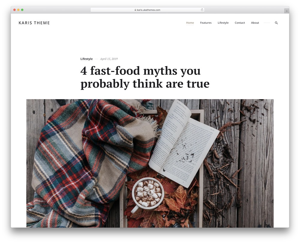 karis wordpress theme for publishers