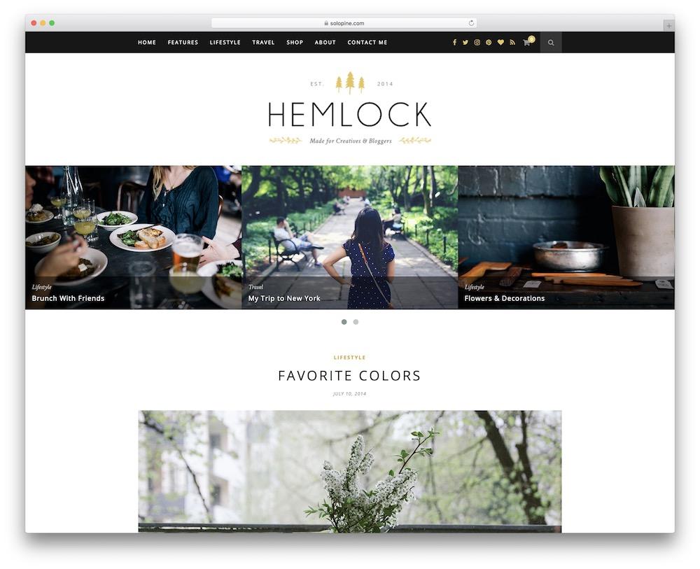 hemlock video blog wordpress theme