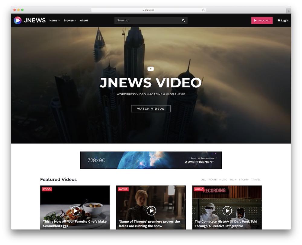 jnews video news wordpress theme