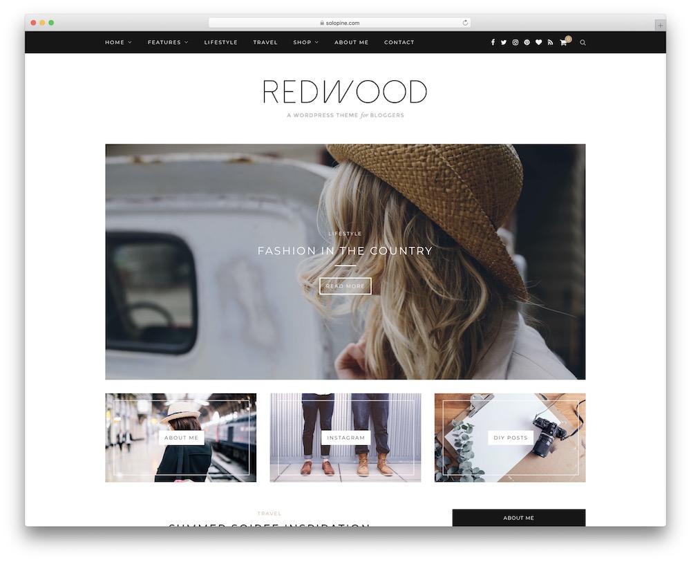 redwood video blog wordpress theme