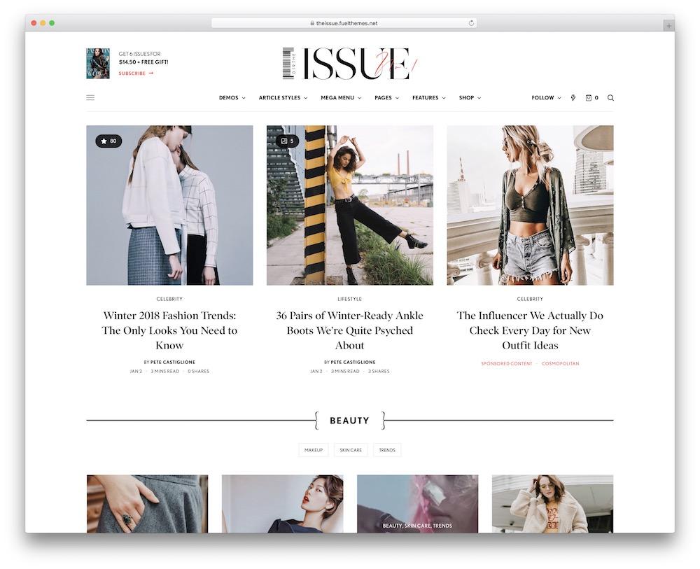 the issue video blog wordpress theme