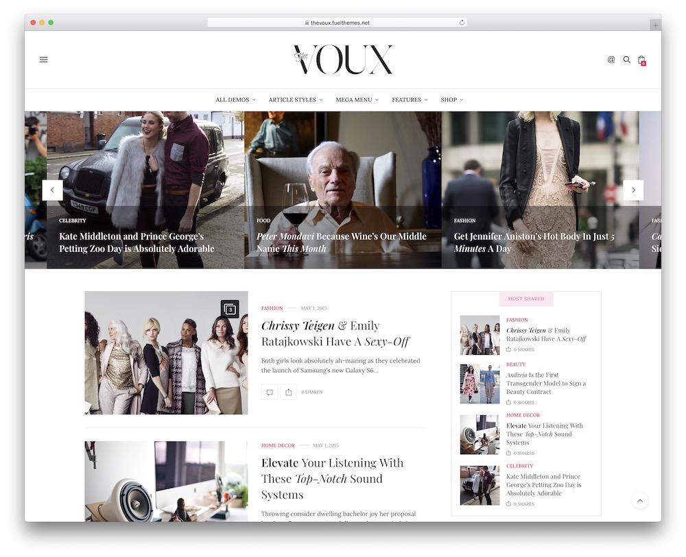 the voux video blog wordpress theme