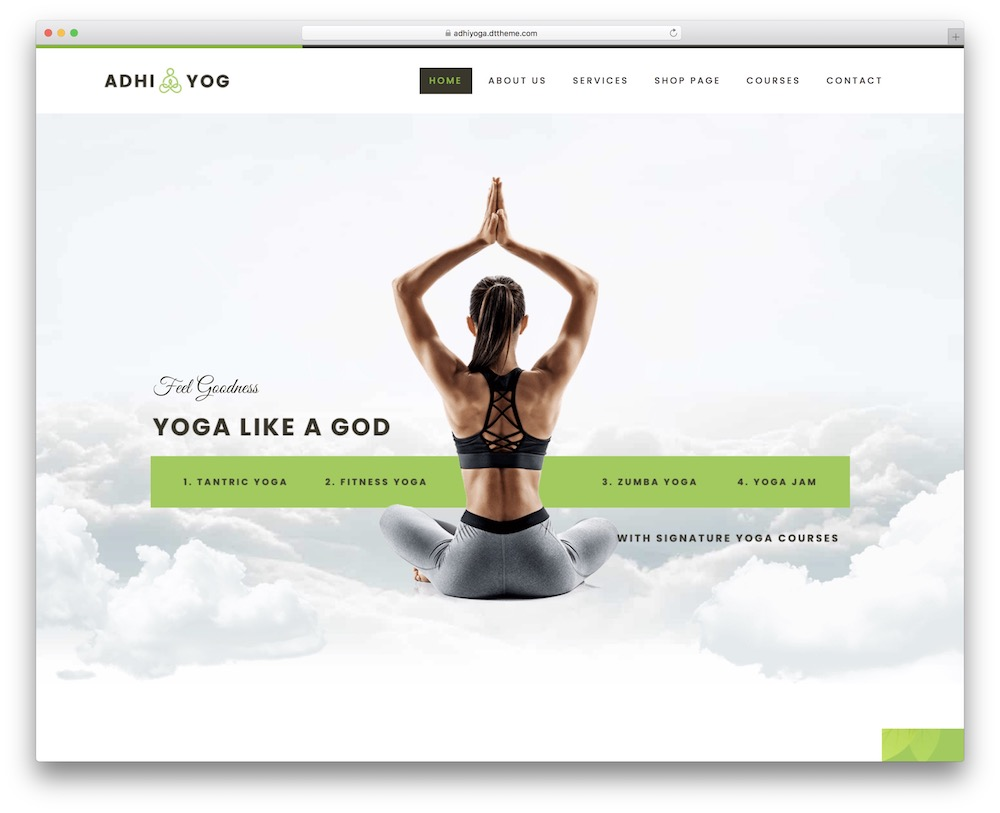 adhi yoga lifestyle wordpress theme