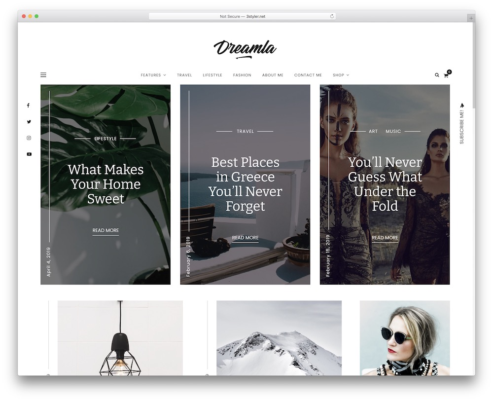 dreamla lifestyle wordpress theme