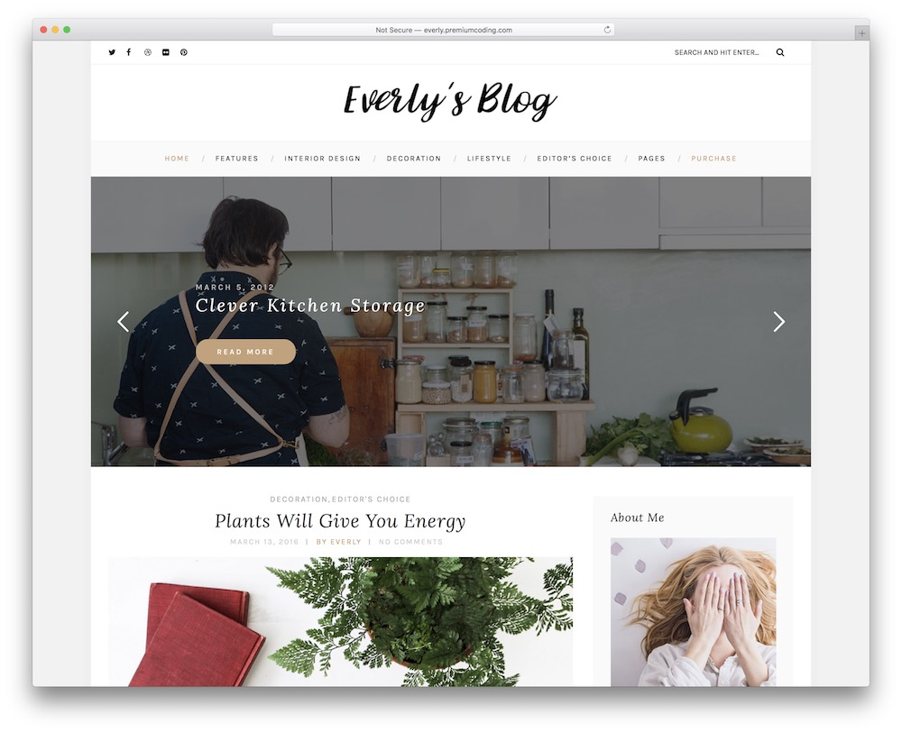 everly lifestyle wordpress theme