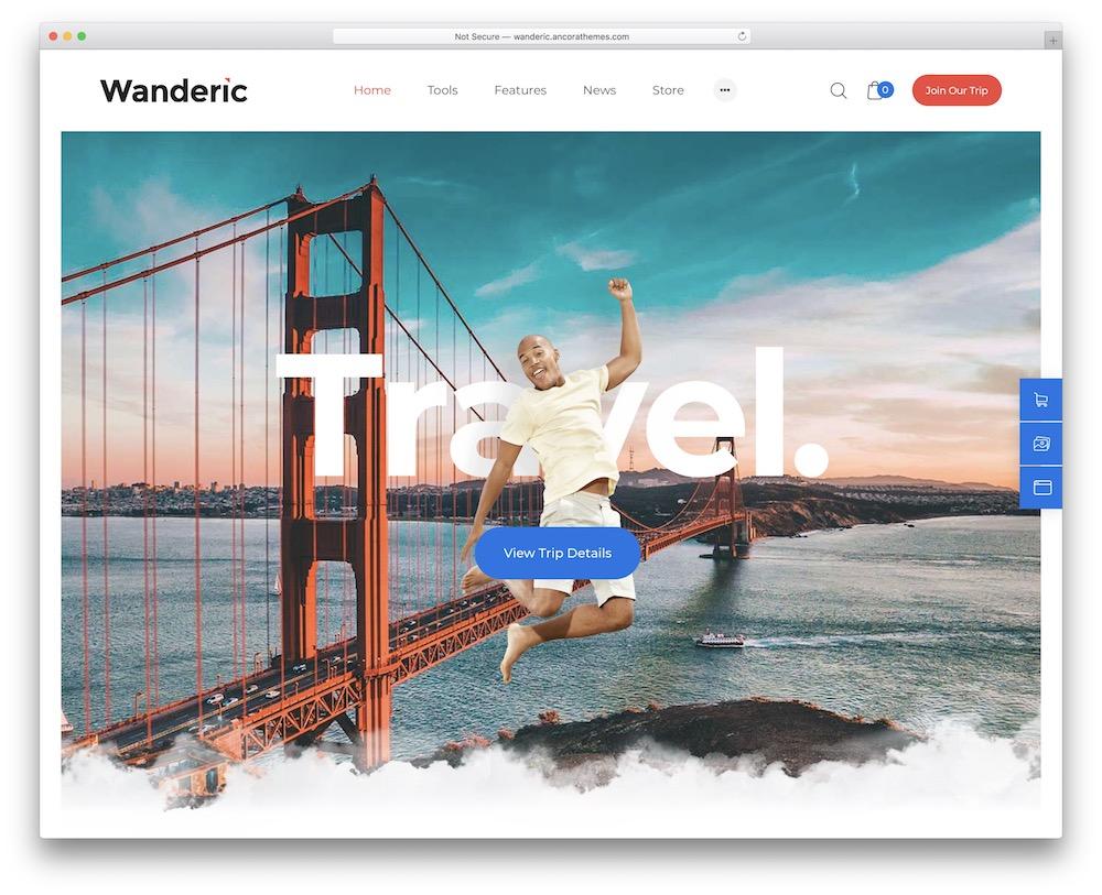 wanderic lifestyle theme