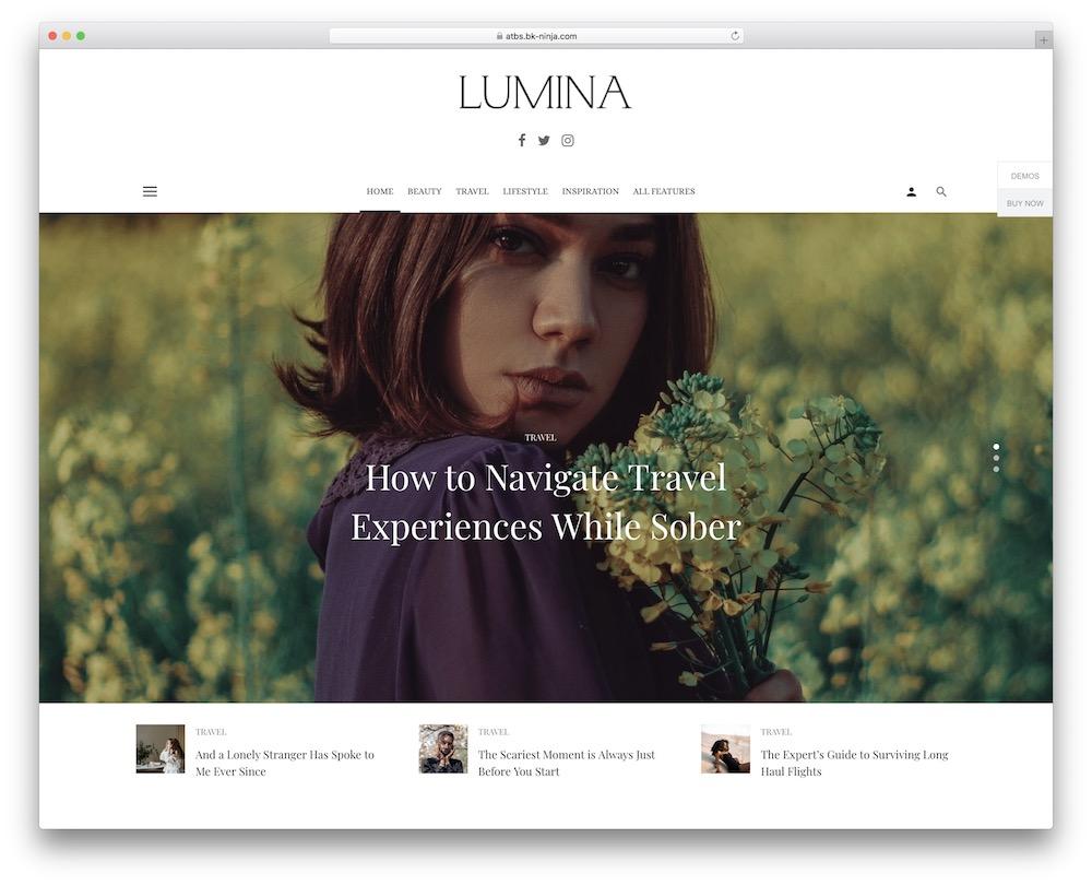 suga fashion blog wordpress theme