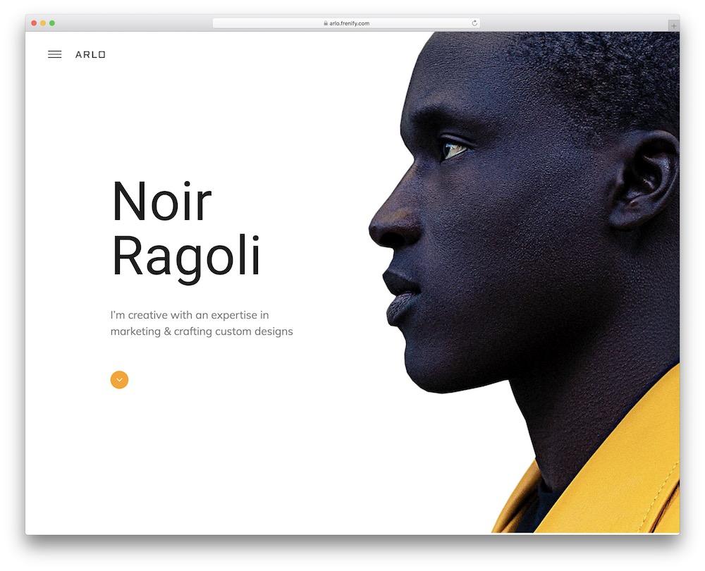 arlo personal brand wordpress theme