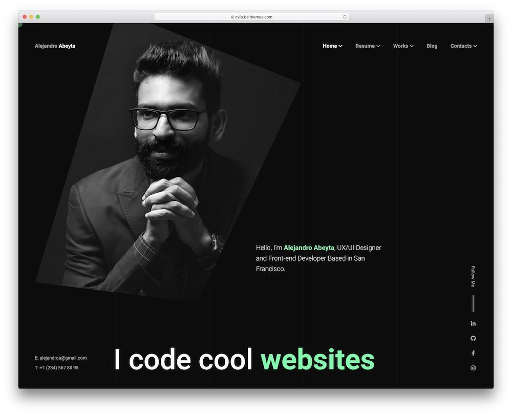 cvio personal brand wordpress theme