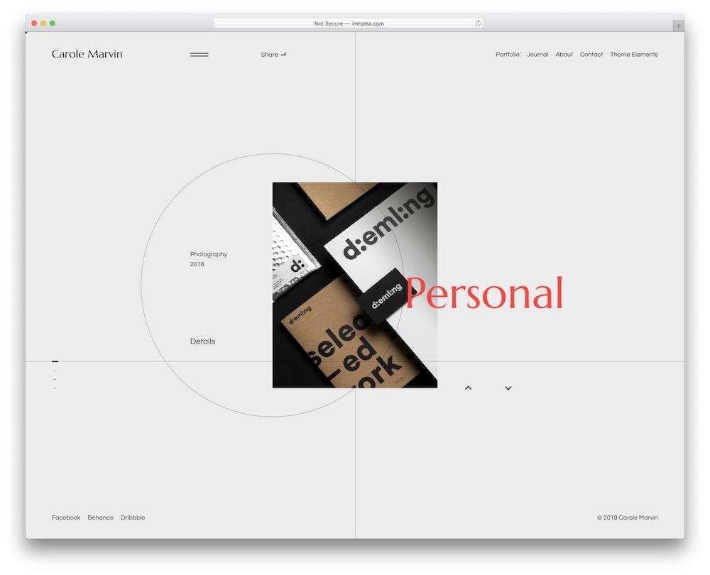 liga personal brand wordpress theme