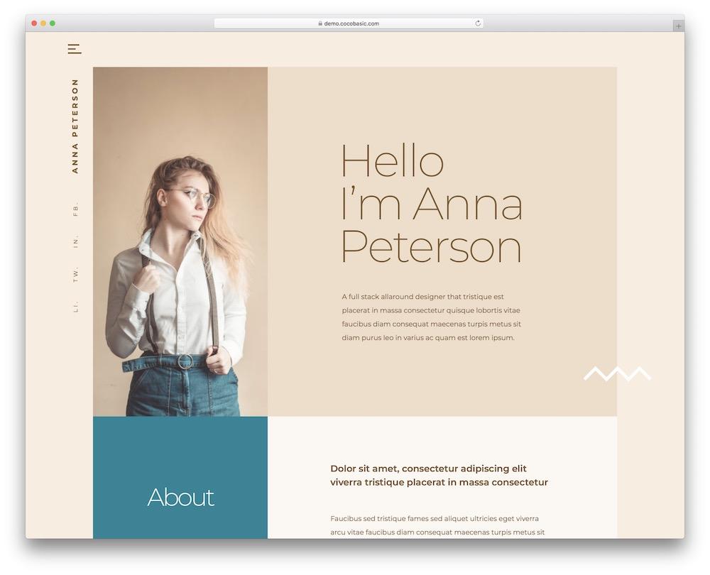 teoro personal wordpress theme